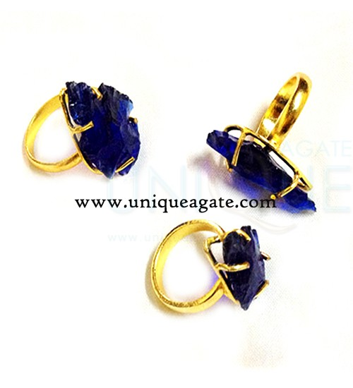 blue-colour-glass-adjustable-arrowhead-rings