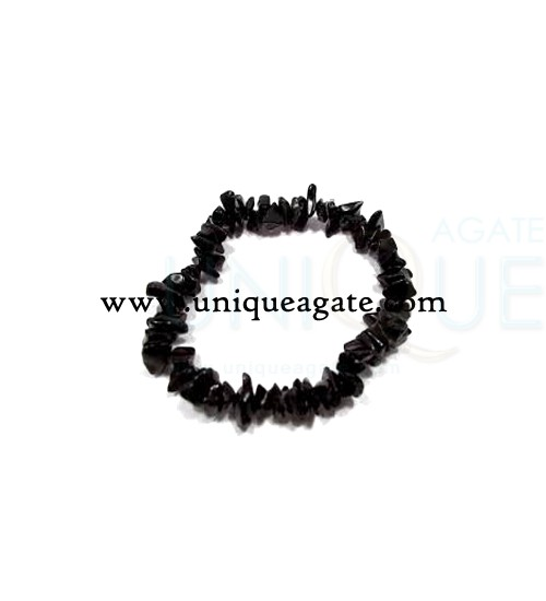 black-obsidian-chips-bracel