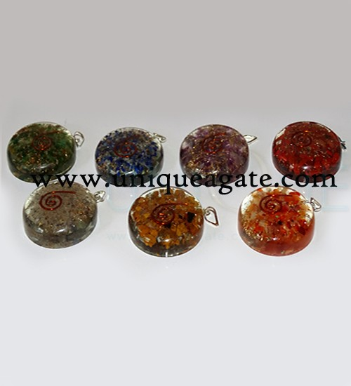 Orgone Disc Pendants
