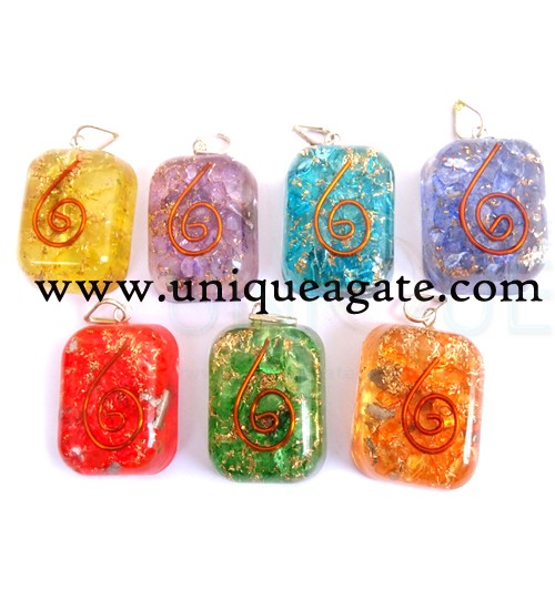 Orgone Square Pendants