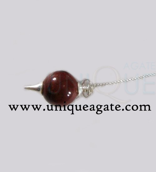 Red-Jasper-Ball-Pendulum-(S