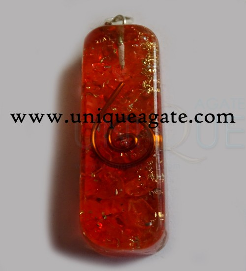 Long Rectangle Orgone Pendants