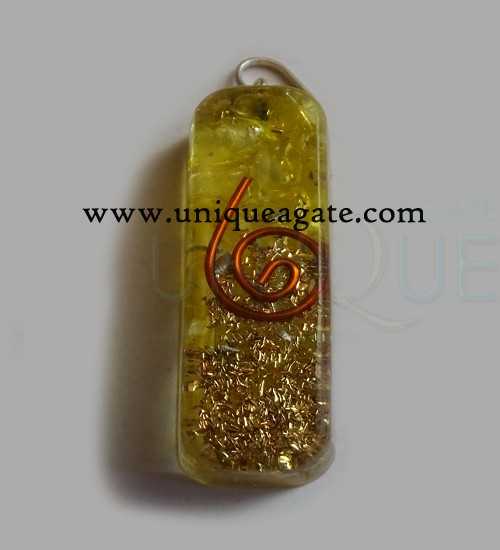 Orgonite Pipe Pendants