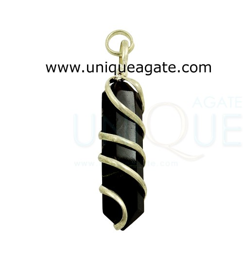 Black-Agate-Cage-Wrapped-Double-Point-Pencil-Pendant