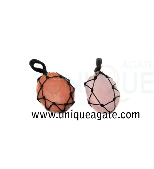 Gemstone-Netted-Pendant