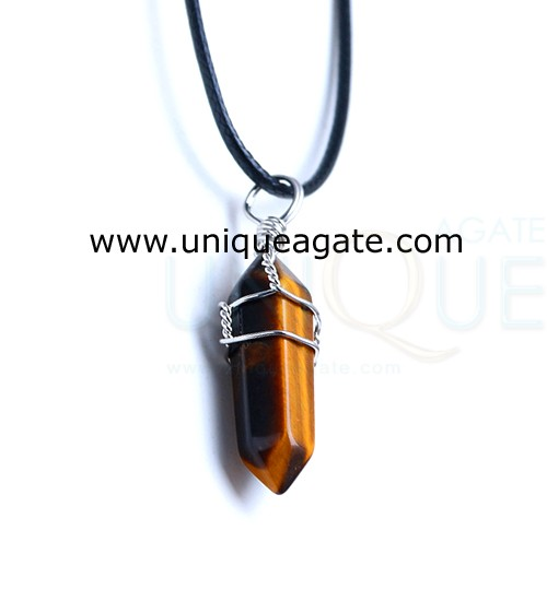 Tiger-Eye.wire-wrapped-double-point-pencil-pendant..With-Cord