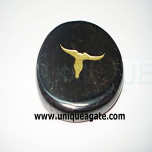 Black-Agate-Plam-Stone-With