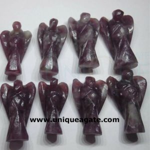 2 inch lepidolite gemstone angel wholesale