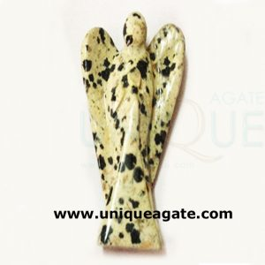 3 Inch Dalmation Jasper Curved Gemstone Angel