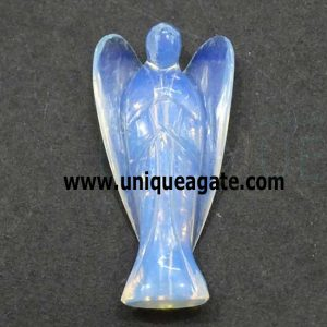 3 Inch Opalite Curved Gemstone Angel
