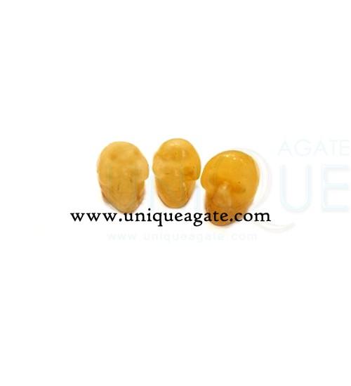 Yellow-Aventurine-Skulls