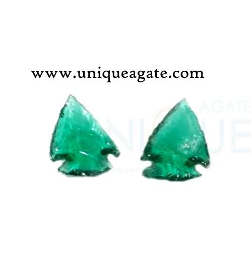 Green-Colour-Glass-Arrowhea