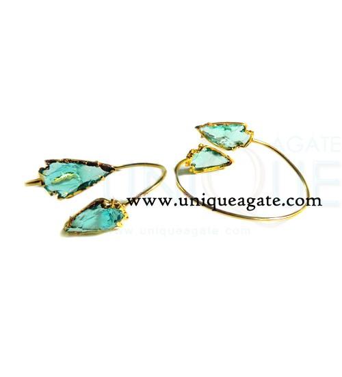 Aqua-Colour-Glass-Arrowhead
