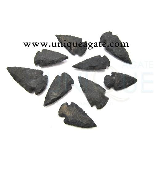 Black-Agate-Matt-Arrowheads