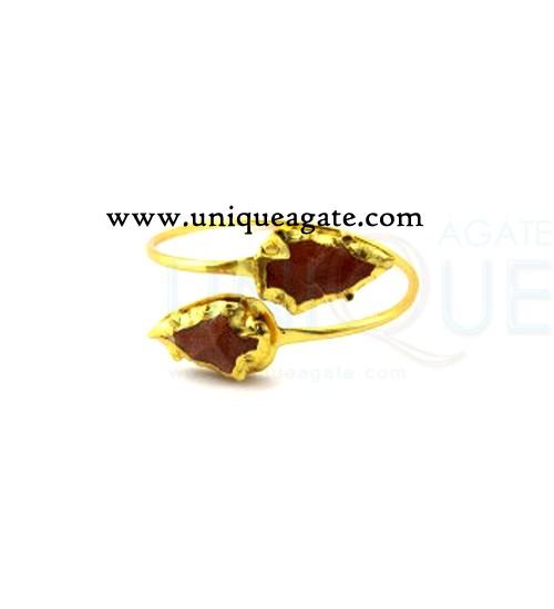 Red-Gold-Stone-Arrowheads-Bangle