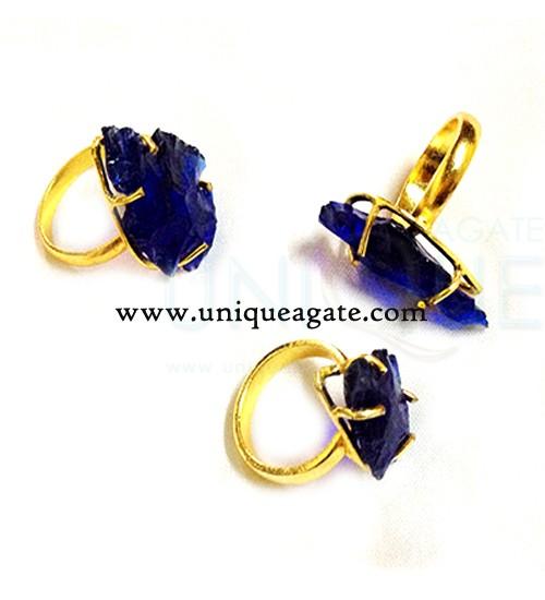blue-colour-glass-adjustable-arrowhead-rings