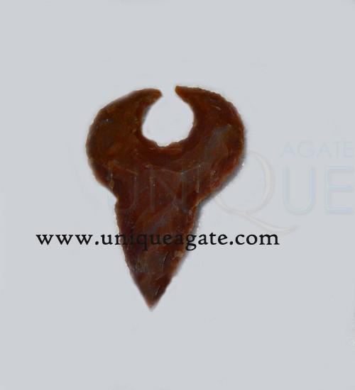 Bull-Shape-Handmade-Agate-Arrowhead-Artifacts