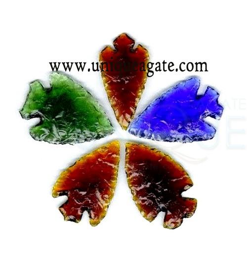 Mix-colour-Glass-Arrowheads