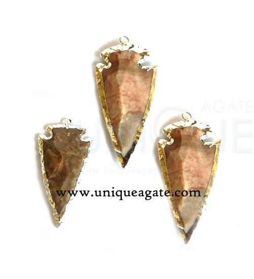 agate-silver-electropled-arrowhead-pendant