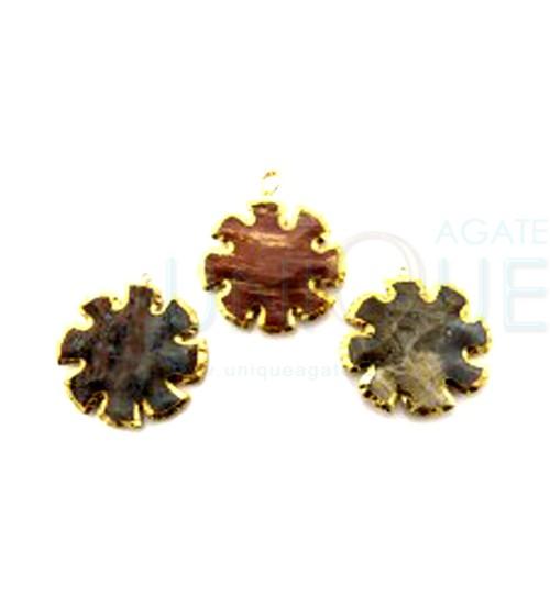 Agate-Sun-Arrowhead-Gold-Electroplated-Pendant