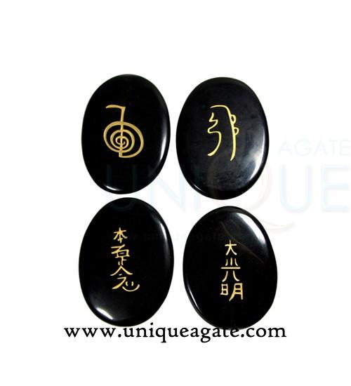 black-agate-oval-engraved-u