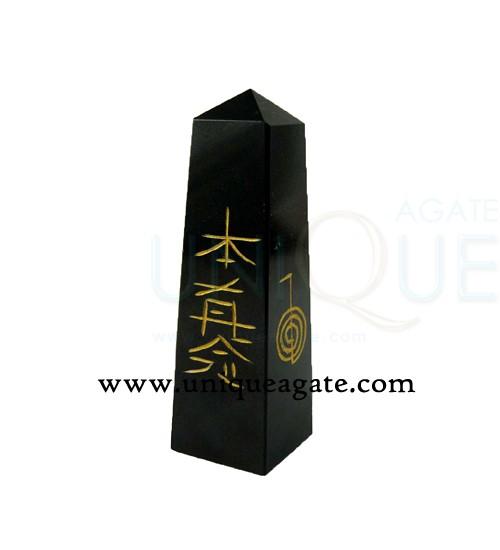 black-agate-reiki-tower