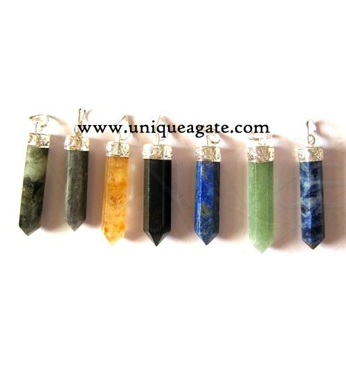 Mix Gemstone Pencil Pendant