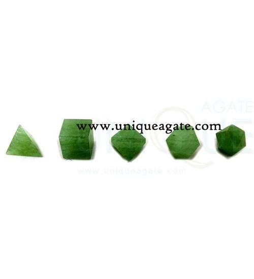 green-aventurine-5pcs-geome