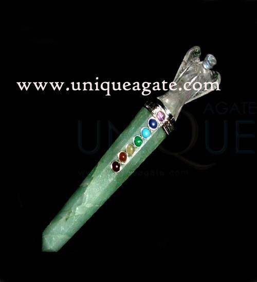 Green-Aventurine -Chakra-Angel-Healing -Wand