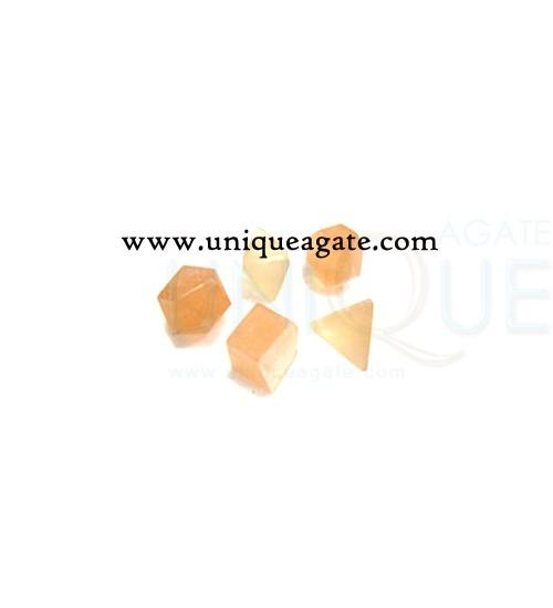 orange-selanite-5pcs-geomet