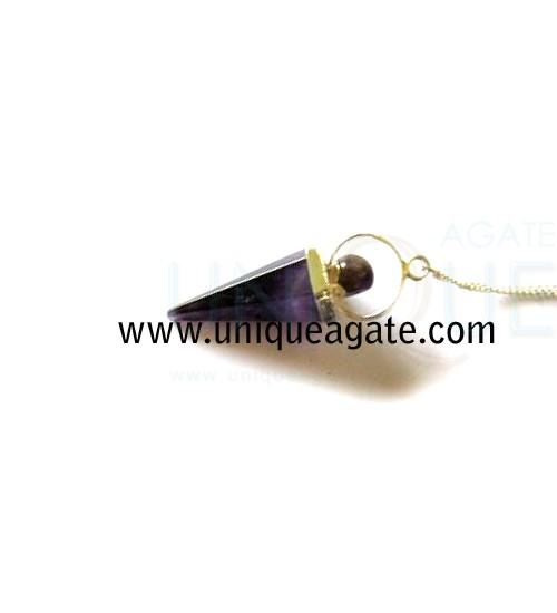 Amethyst-Cone-Shape-Pendulu