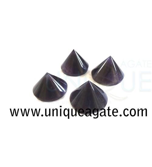Amethyst-Conical-Pyramids