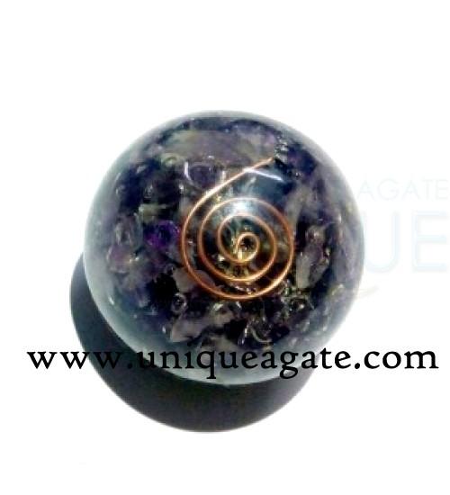 Amethyst-Orgone-Ball
