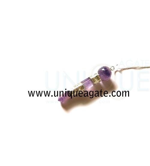 Amethyst-Stick-Shape-Pendul