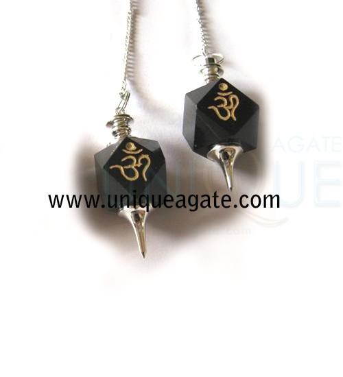 Black-Agate-Hexagon-Engrave
