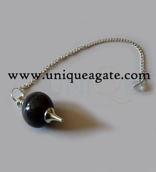 Black-Tourmaline-Ball-Pendu