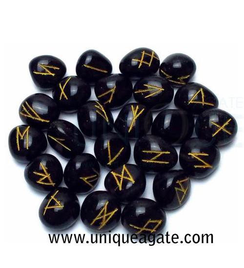 Black-Tourmaline-Rune-Set