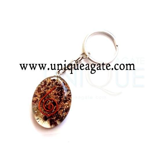 Garnet-Orgonite-Oval-Keycha