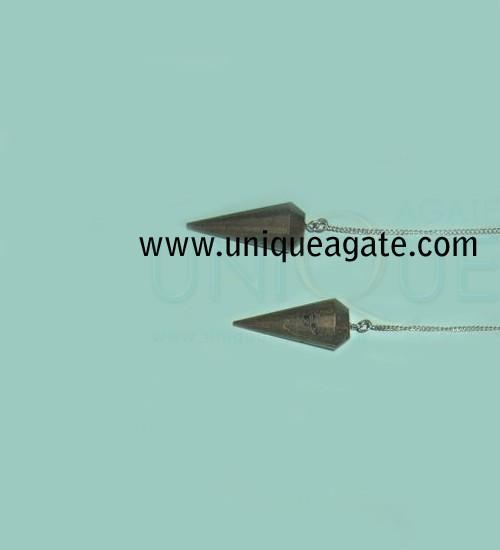 Hematite-Faceted-Pendulum