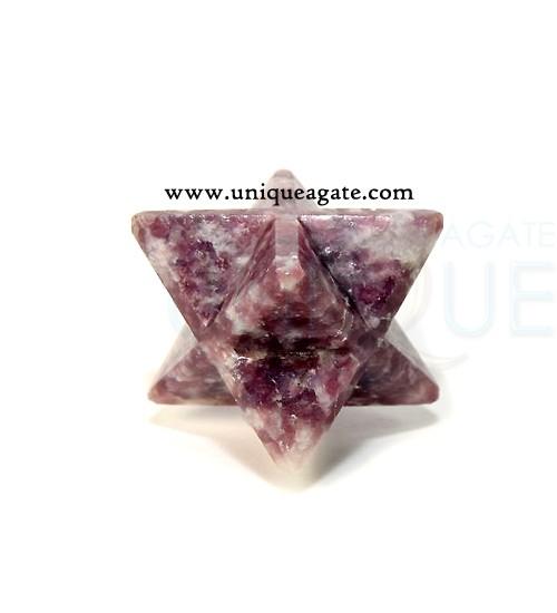 Lepidolite-Merkaba-Star
