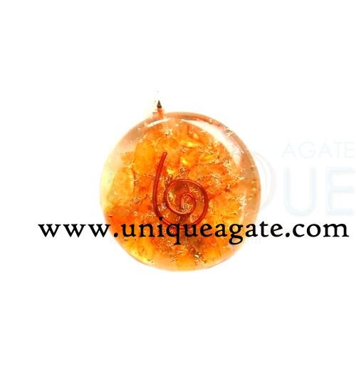 Orange-Orgone-Disc-Pendant