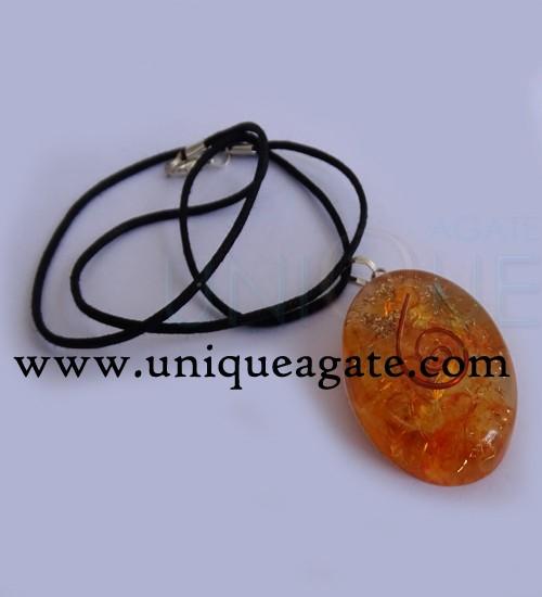 Orange-Orgone-Oval-Pendant-
