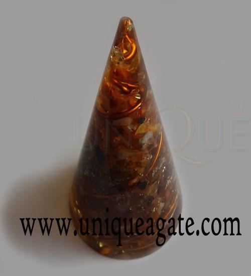 Orange-Orgonite-Energy-Cone