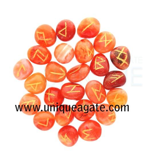 Red-Carnelian-Rune-Set