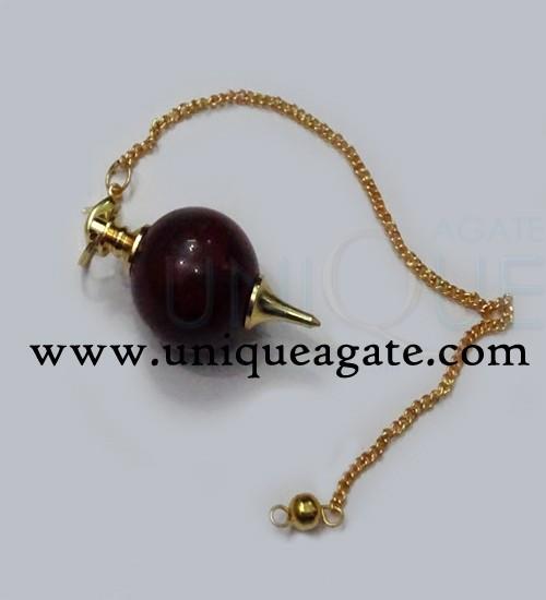 Red-Jasper-Ball-Pendulum-(G
