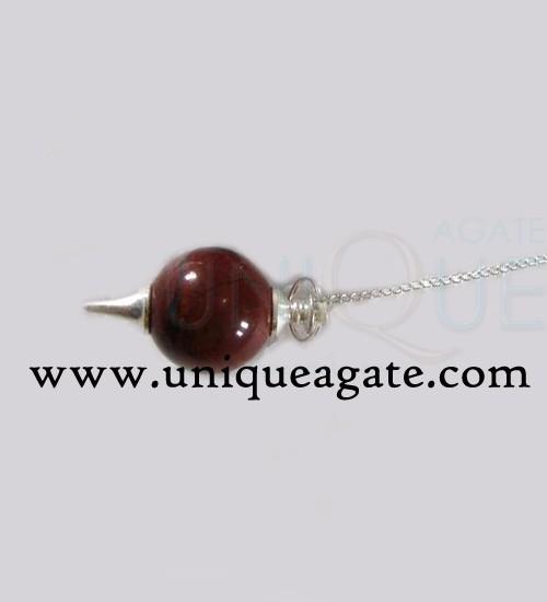 Red-Jasper-Ball-Pendulum-(S