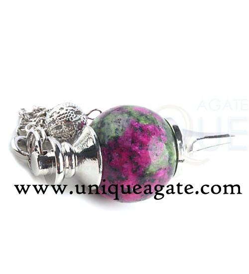 Ruby-Zoisite-Ball-Pendulum