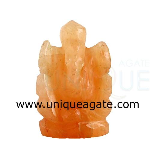 Red-Aventurine-Ganesha-Idol