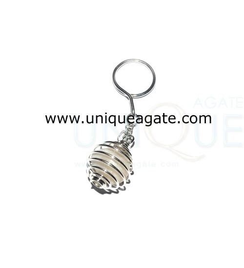 White-Agate-Tumble-Cage-Key