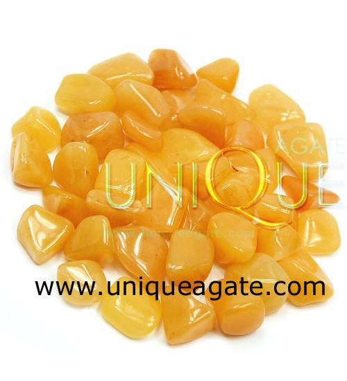 Yellow-Avnetuine-tumble-stones
